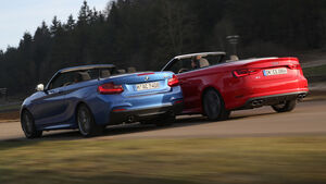 Audi S3 Cabrio, BMW M235i Cabrio, Heckansicht