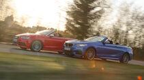 Audi S3 Cabrio, BMW M235i Cabrio, Seitenansicht