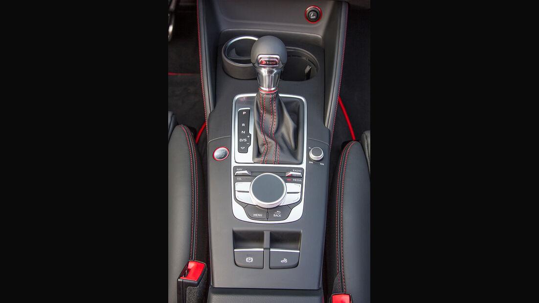 Audi S3 Cabrio, Mittelkonsole, Schalthebel