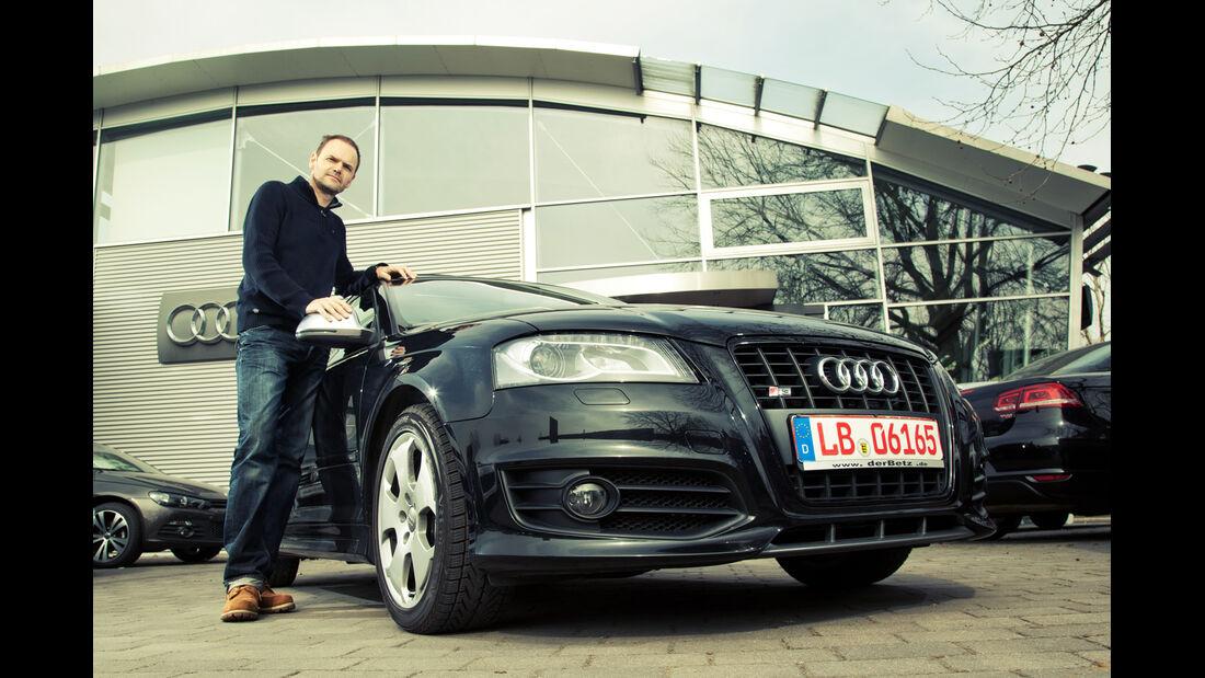 Audi S3, Frontansicht, Händler