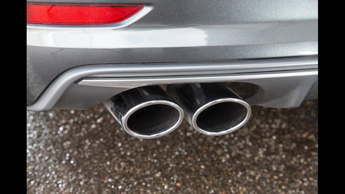 Audi S3 Limousine, Auspuff, Endrohr