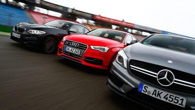 Audi S3 Limousine, BMW M235i, Mercedes A 45 AMG