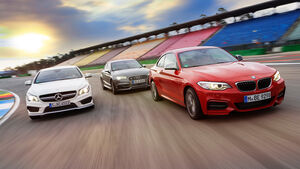 Audi S3 Limousine, BMW M235i, Mercedes CLA 45 AMG 4MATIC, Front