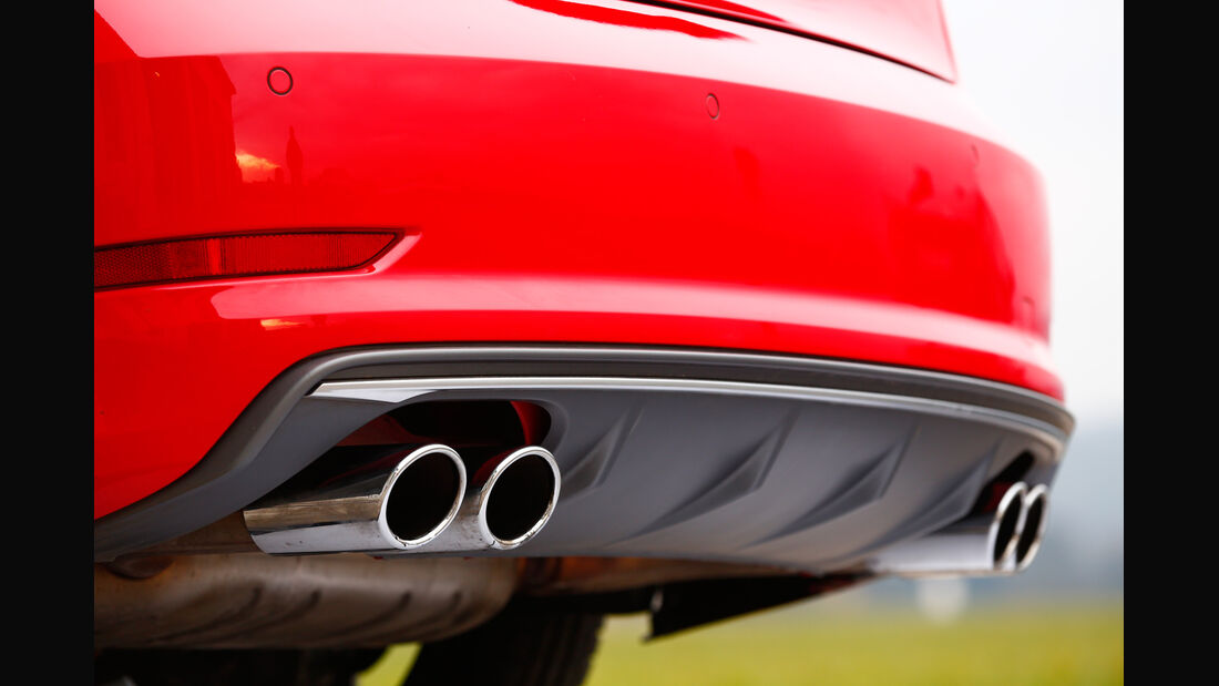 Audi S3 Limousine, Endrohre