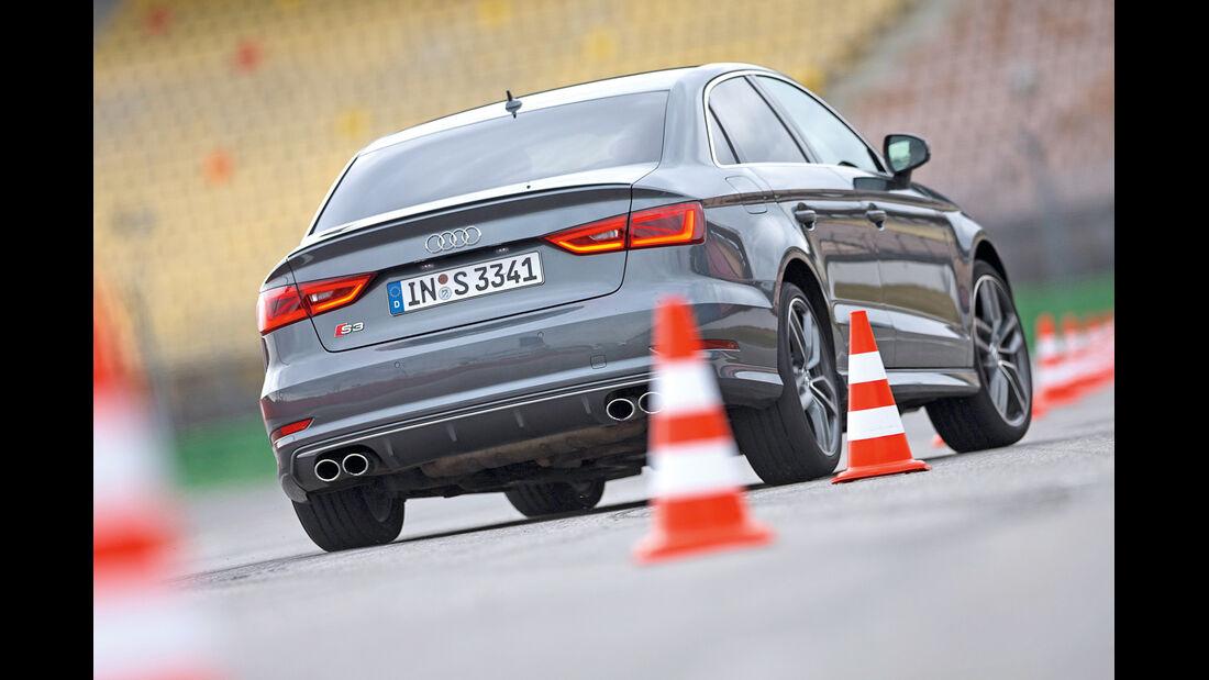 Audi S3 Limousine, Slalom, Heckansicht