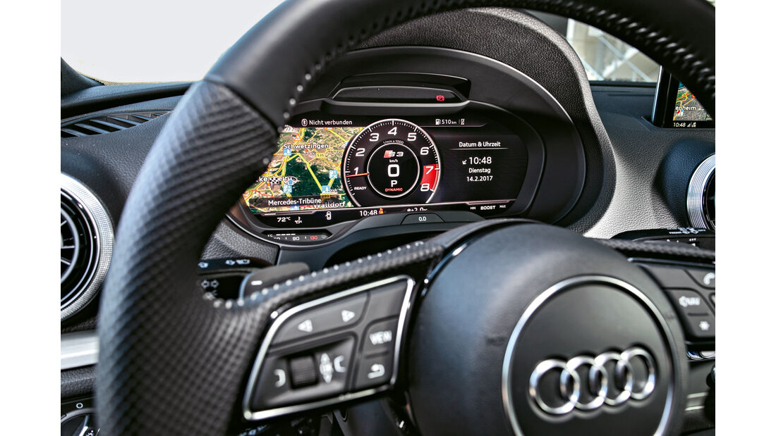 Audi S3, Rundinstrumente