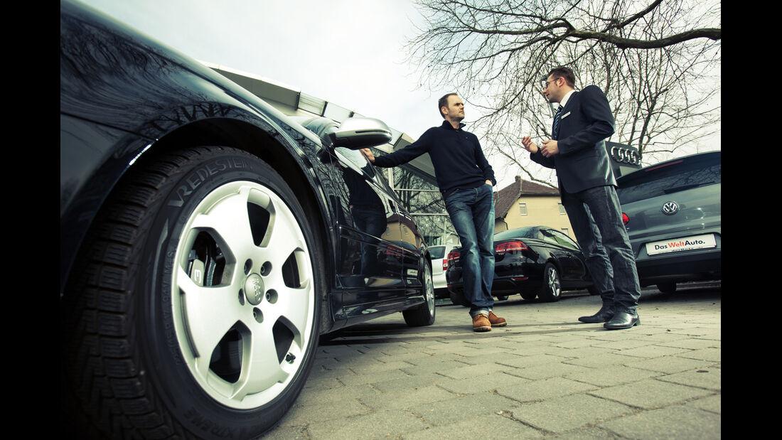 Audi S3, Seitenführung, Händler