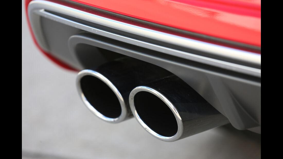 Audi S3 Sportback, Auspuff, Endrohre