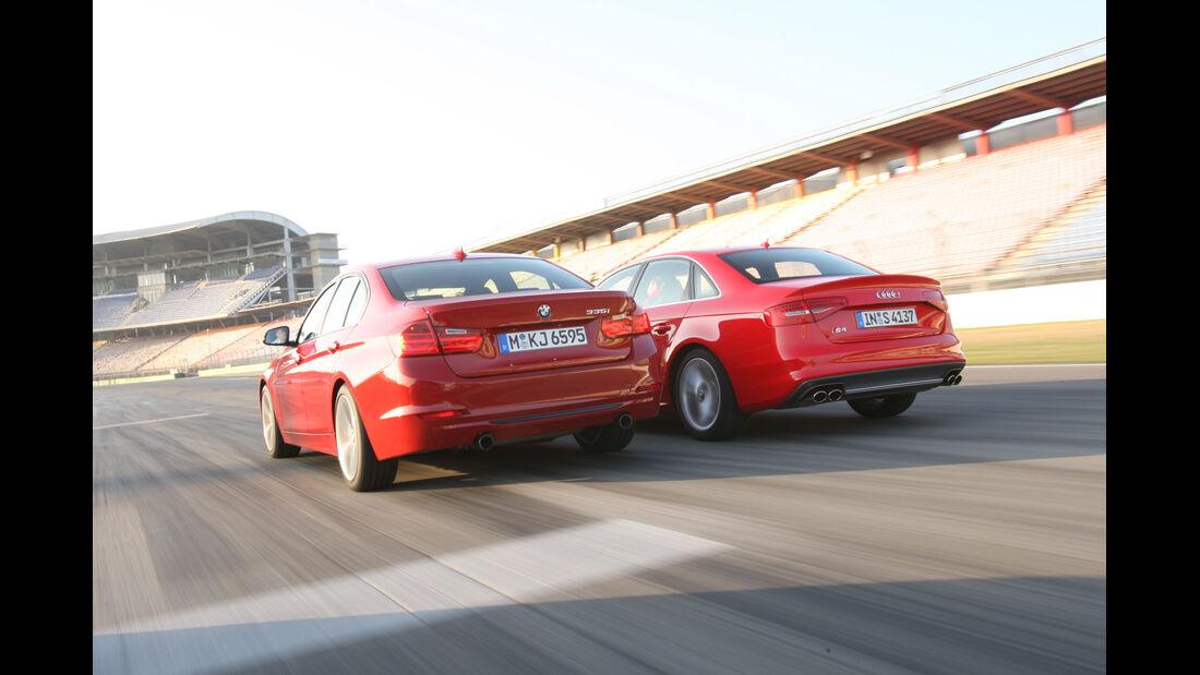 Audi S4 3.0 TFSI, BMW 335i Sport Line, Heck