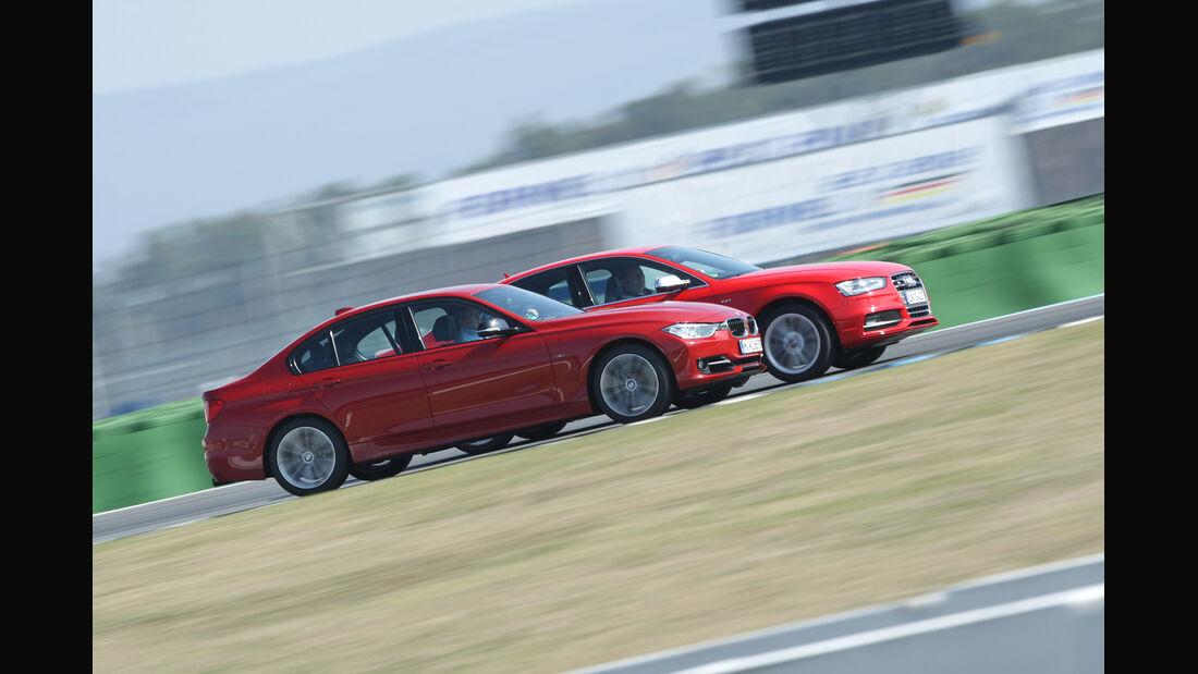Audi S4 3.0 TFSI, BMW 335i Sport Line, Seitenansicht