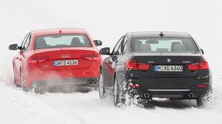 Audi S4 3.0 TFSI, BMW 335i x-Drive Luxury Line, Heckansicht