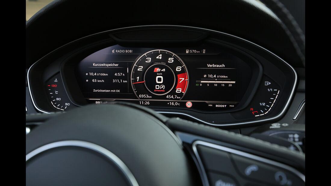 Audi S4 3.0 TFSI Quattro, Anzeigeinstrumente