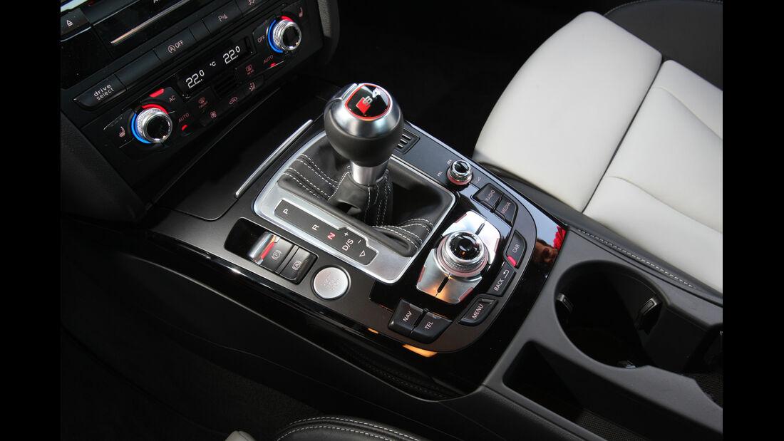 Audi S4 3.0 TFSI, Schaltknauf, Schalthebel