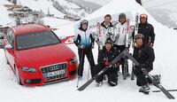 Audi S4, Stefanie Schuster, Franz Klammer, Hannes Trinkl, Helmut Mayer, Christian Gappmaier, Dieter Heubacher