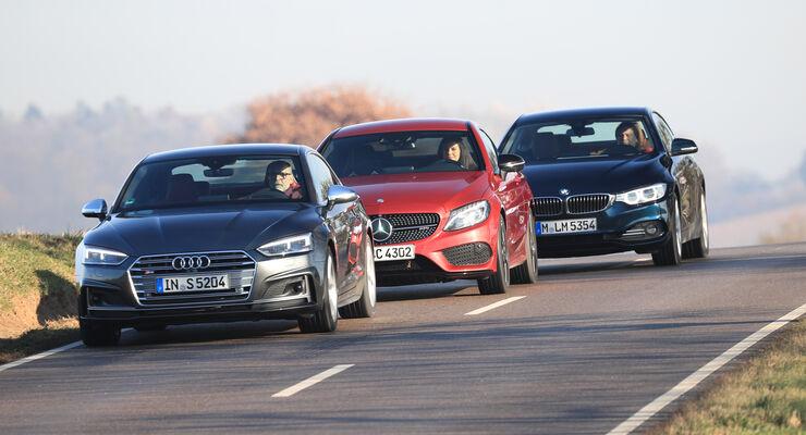test: audi s5, bmw 440i xdrive, mercedes amg c 43 coupé - auto motor