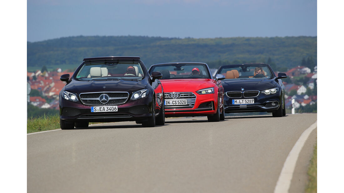 Audi S5 Cabrio, BMW 440i Cabrio, Mercedes E 400 Cabrio, Exterieur