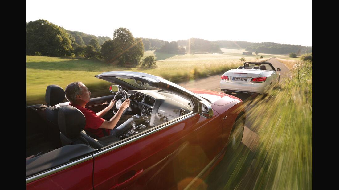 Audi S5 Cabrio, Mercedes E 400 Cabrio, Fahrt