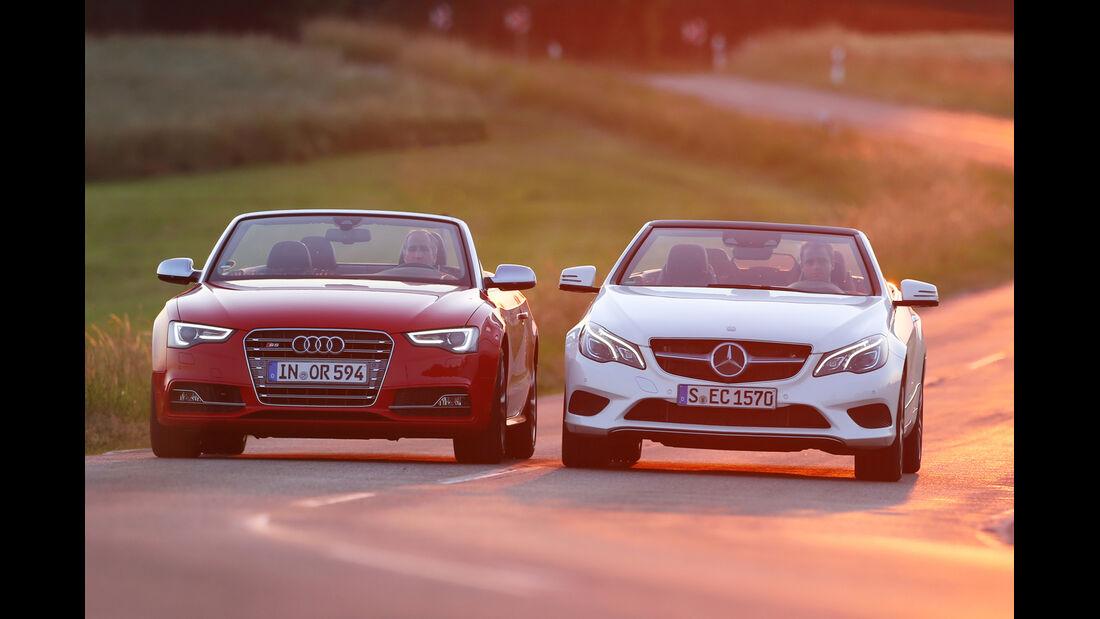 Audi S5 Cabrio, Mercedes E 400 Cabrio, Frontansicht