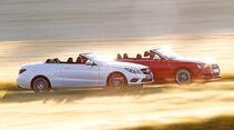 Audi S5 Cabrio, Mercedes E 400 Cabrio, Seitenansicht