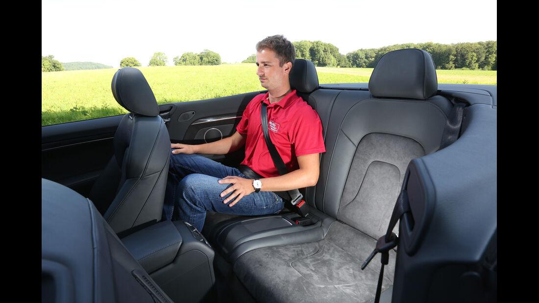Audi S5 Cabrio, Rücksitz, Beinfreiheit