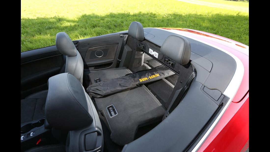 Audi S5 Cabrio, Rücksitz, Skisack