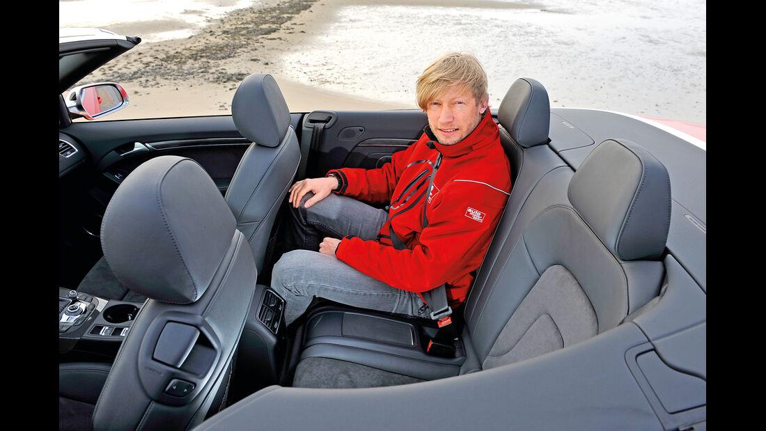 Audi S5 Cabrio, Rücksitze