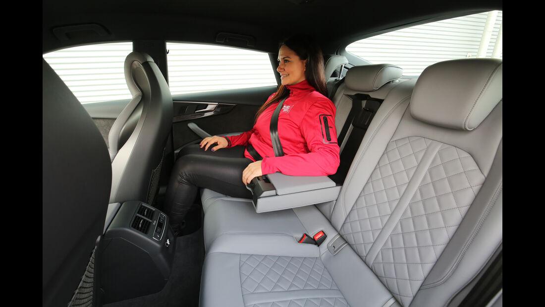 Audi S5 Sportback 3.0 TFSI, Fondsitze