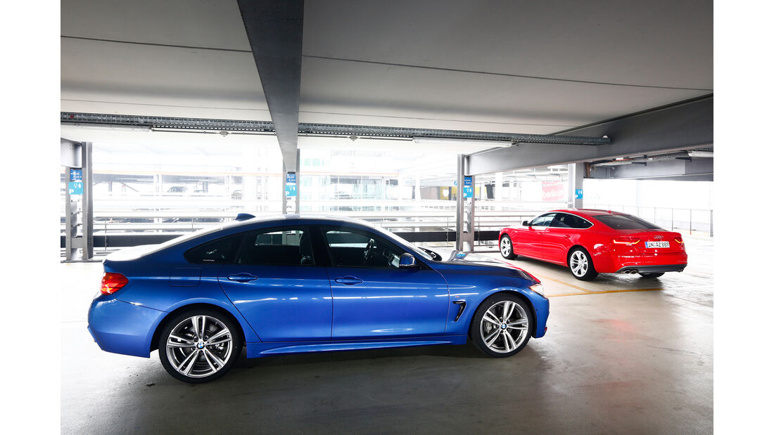 Audi S5 Sportback, BMW 435i Gran Coupé, Seitenansicht