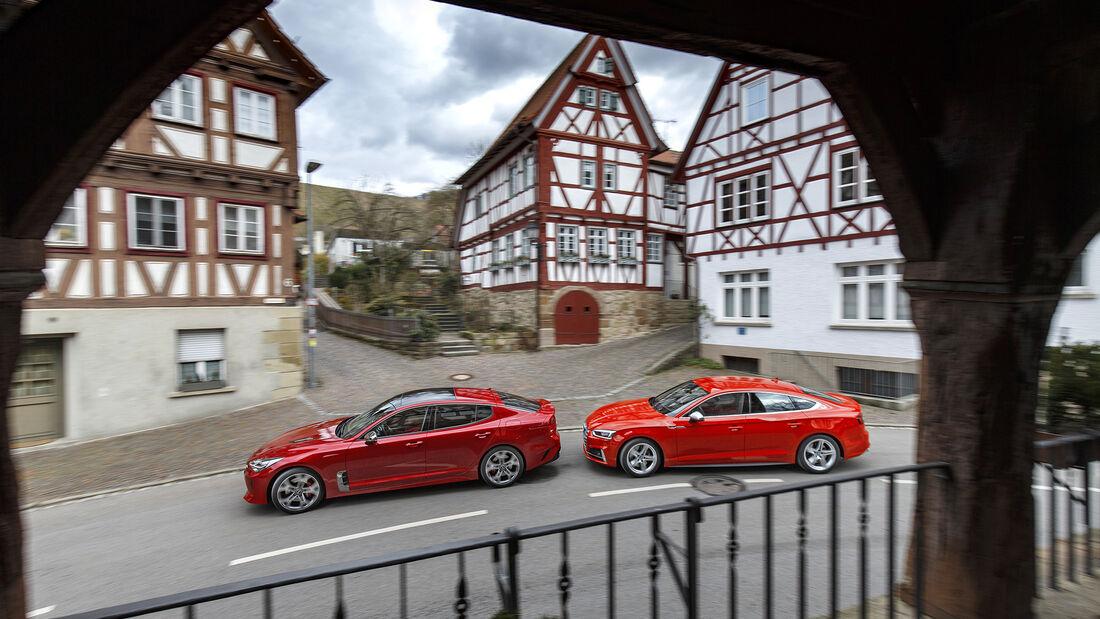 Audi S5 Sportback, Kia Stinger GT 3.3 T-GDI AWD, Exterieur