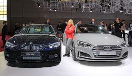 Audi S5 gegen BMW 4er Grand Coupé Paris 2016