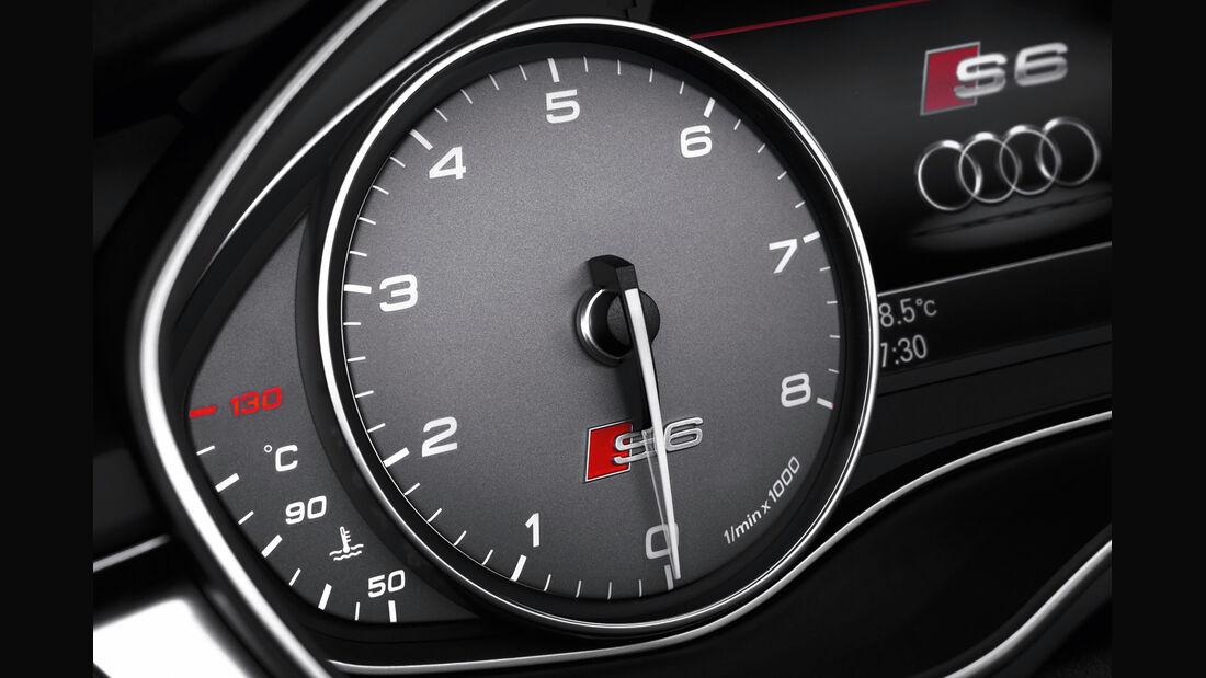 Audi S6 4.0 TFSI, Drehzahlmesser, Rundinstrument