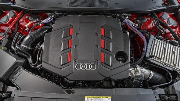 Audi S6 Avant TDI, Auspuff