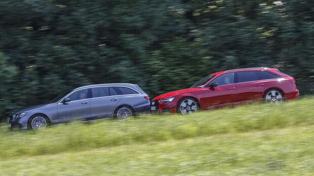 Audi S6 Avant TDI, Mercedes E 400 d T, Exterieur