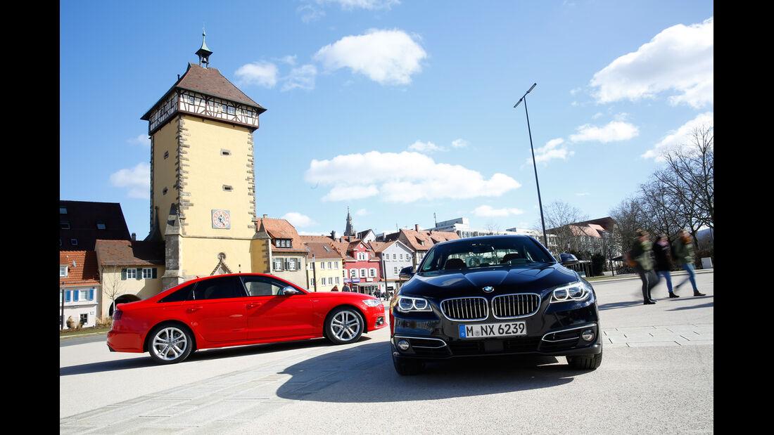 Audi S6, BMW 550i xDrive, Ausfahrt