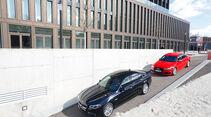 Audi S6, BMW 550i xDrive, Draufsicht