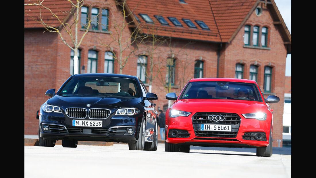 Audi S6, BMW 550i xDrive, Frontansicht