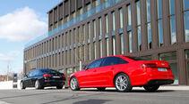 Audi S6, BMW 550i xDrive, Heckansicht
