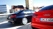 Audi S6, BMW 550i xDrive, Seitenansicht