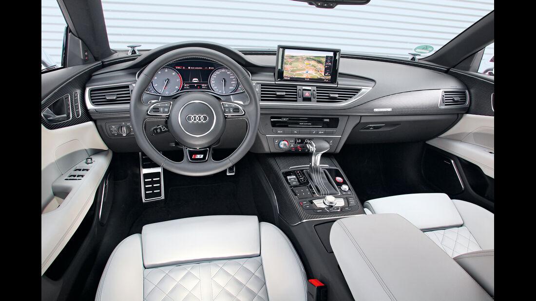 Audi S7 Sportback, Cockpit, Lenkrad