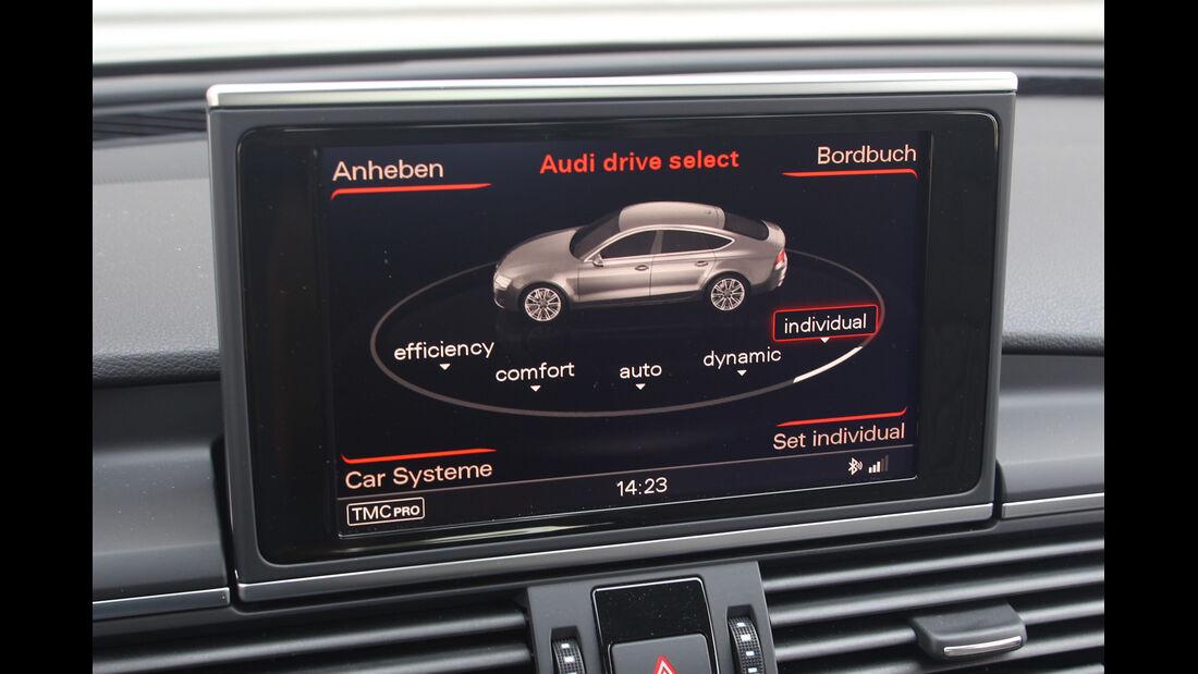 Audi S7 Sportback, Display, Fahreinstellung
