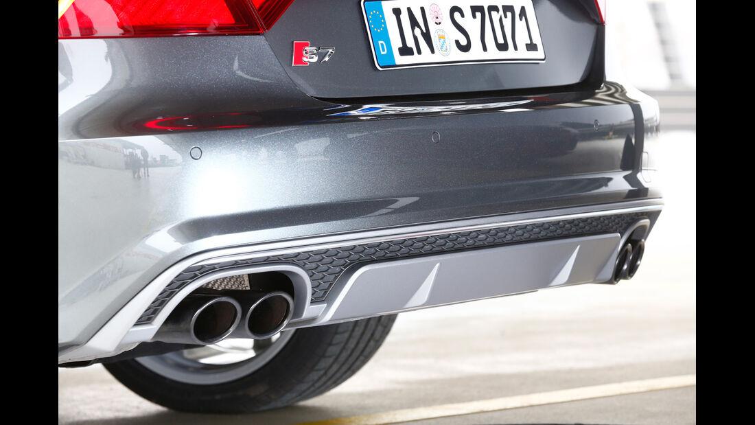 Audi S7 Sportback, Endrohre