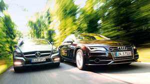 Audi S7 Sportback, Mercedes CLS 500 4matic, Frontansicht
