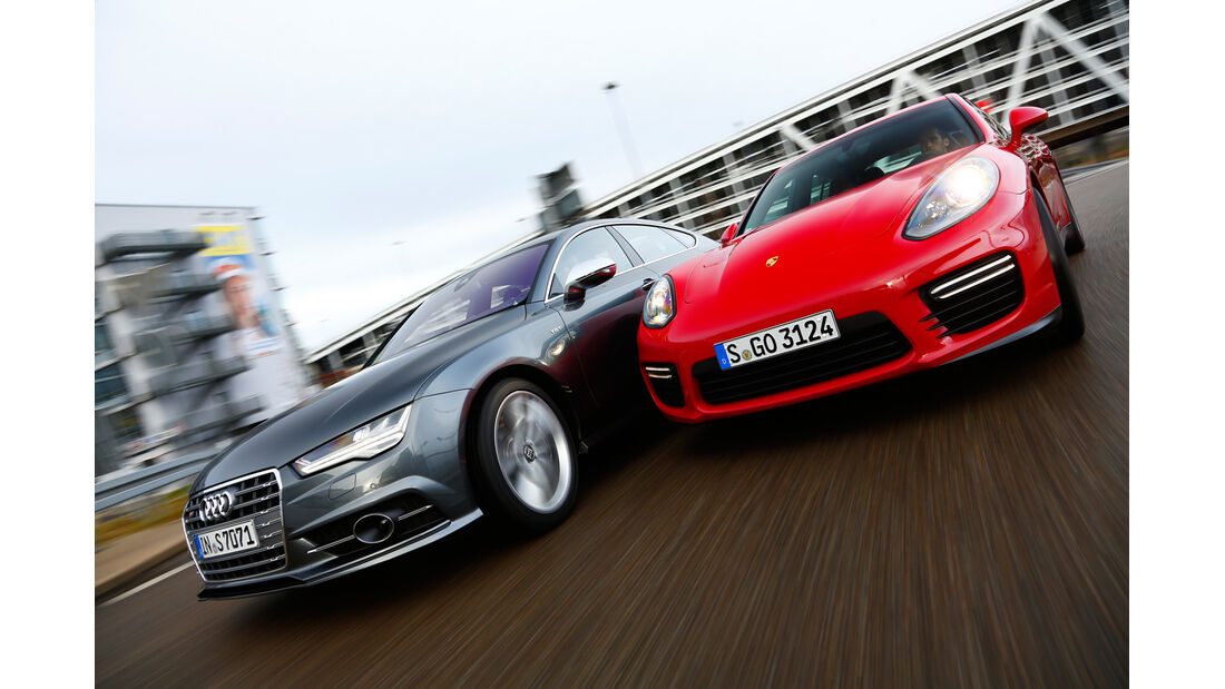 Audi S7 Sportback, Porsche Panamera GTS, Frontansicht