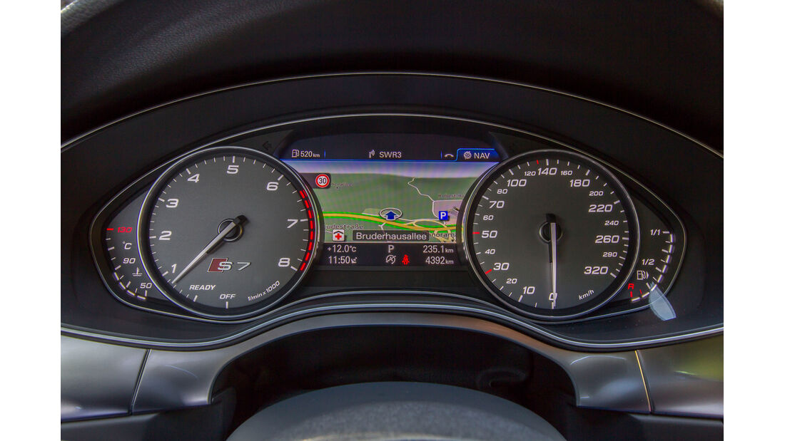 Audi S7 Sportback, Rundinstrumente