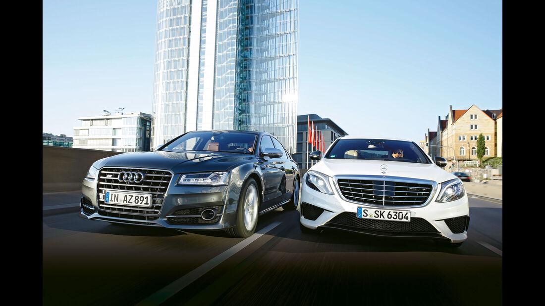Audi S8 - Mercedes-AMG S 63 - Luxusliner