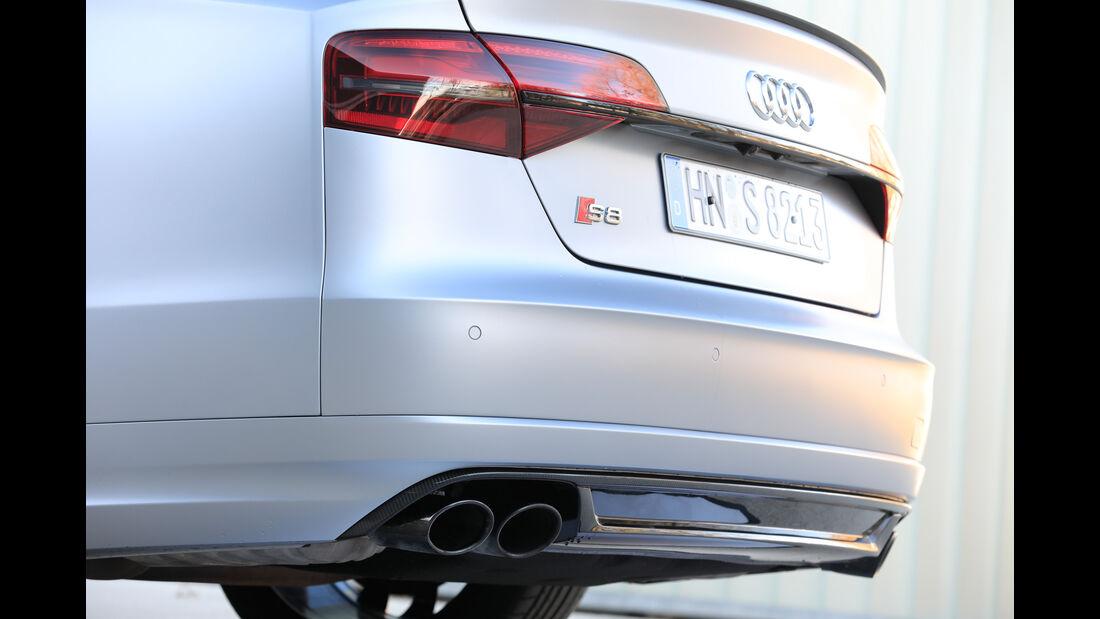 Audi S8 Plus, Endrohre