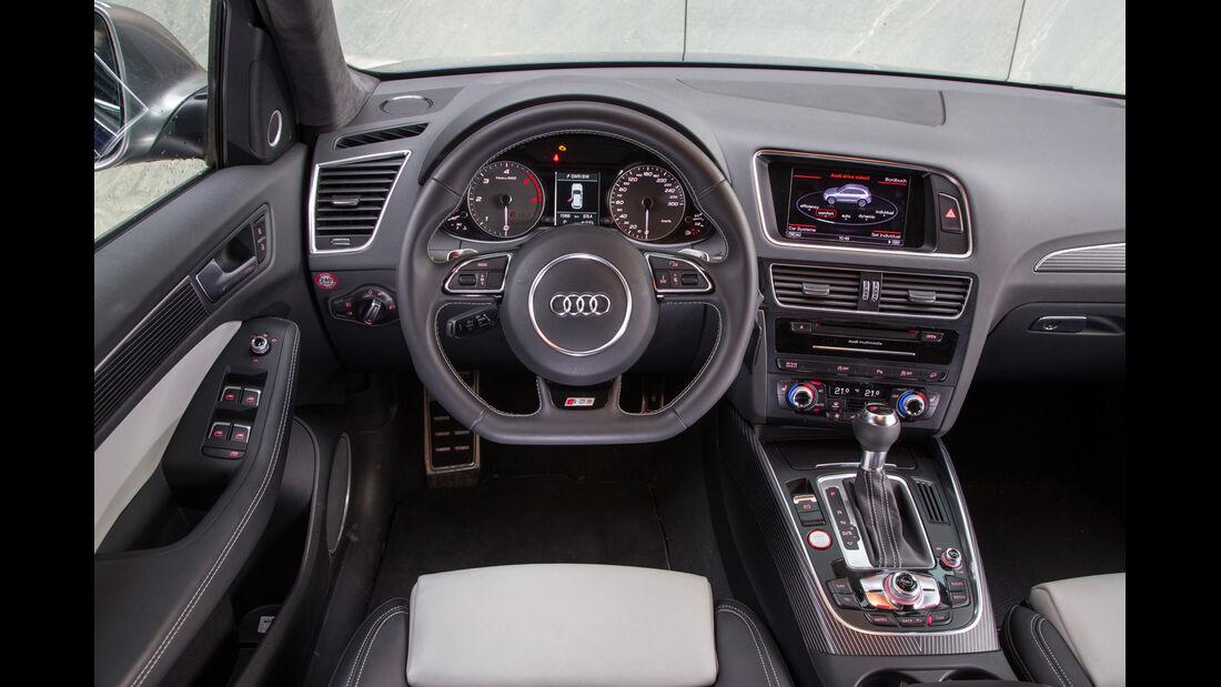 Audi SQ5 3.0 TDI, Cockpit, Lenkrad