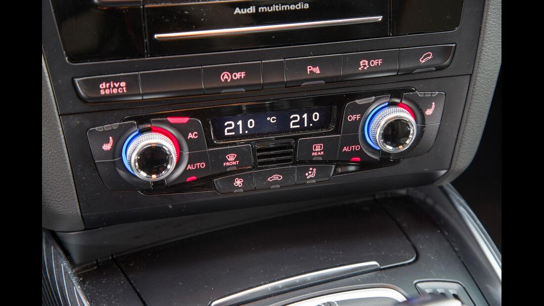 Audi SQ5 3.0 TDI, Mittelkonsole, Bedienelemente