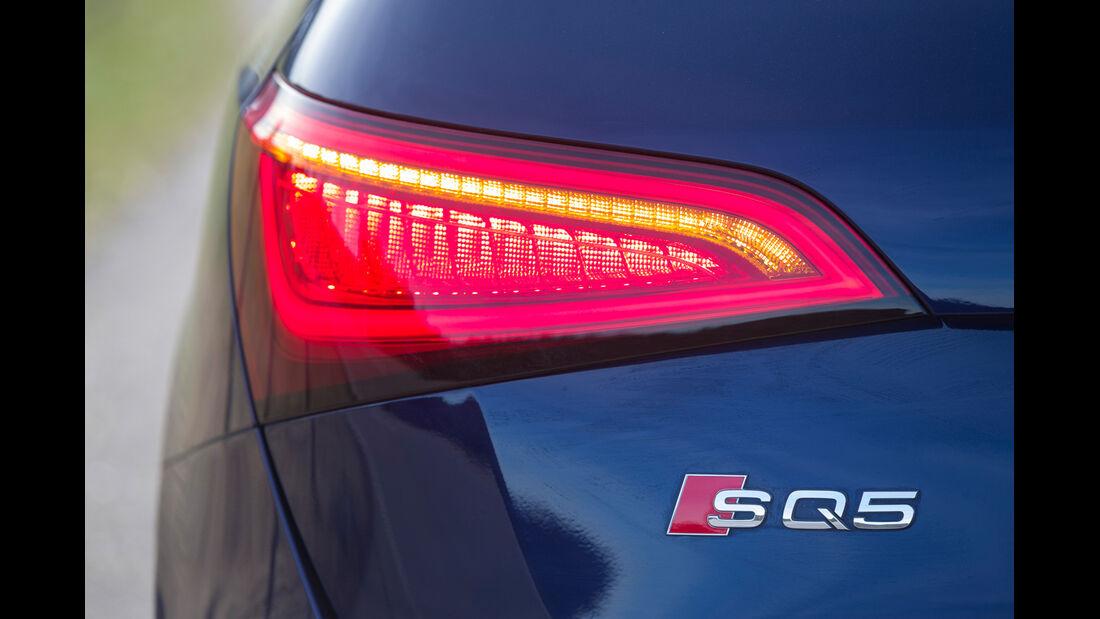 Audi SQ5 3.0 TDI, Typenbezeichnung, Heckleuchte