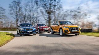 Audi SQ5 Sportback, BMW X4 M40d, Mercedes GLC 400 d Coupé